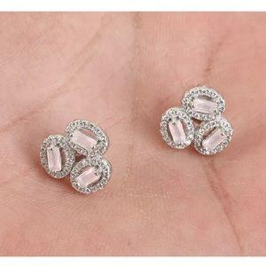 Sultan Ottoman Oval Pink Topaz Earrings